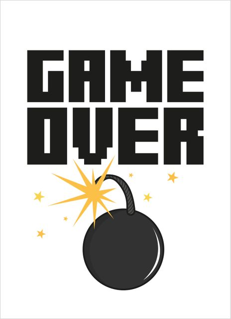 Game Over Text Poster