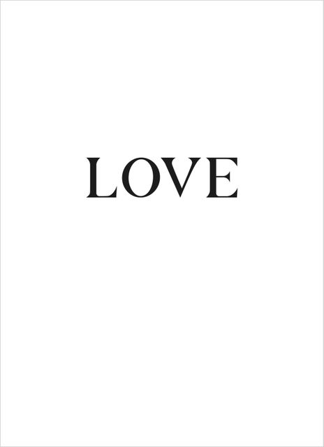 Love big text poster