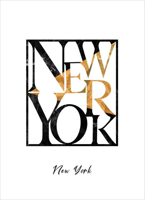 New York text poster