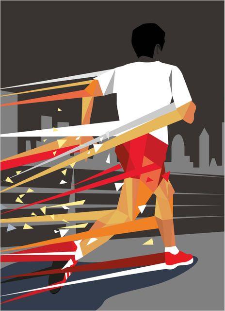 Löpning poster