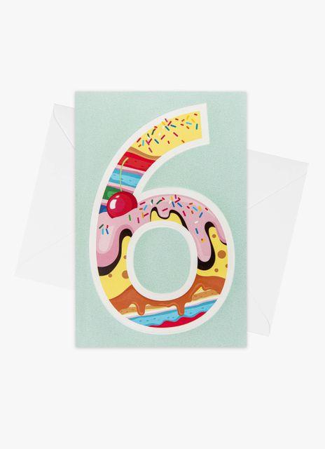 Födelsedagskort 6 år