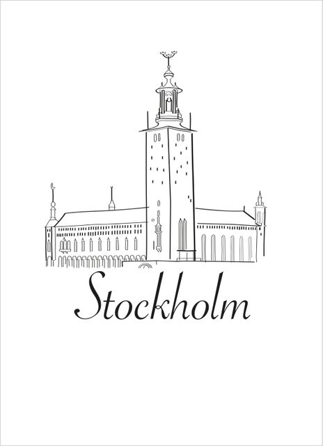 Stockholm skiss poster
