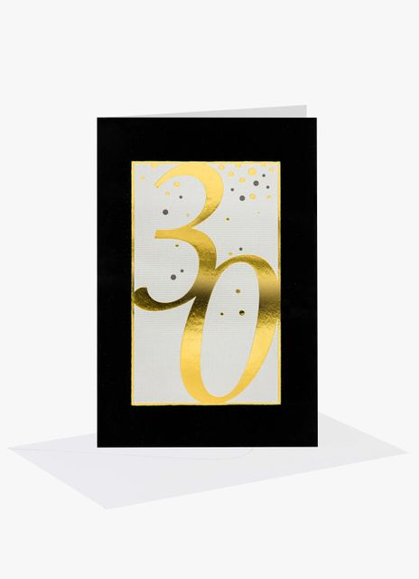 Födelsedagskort 30 år