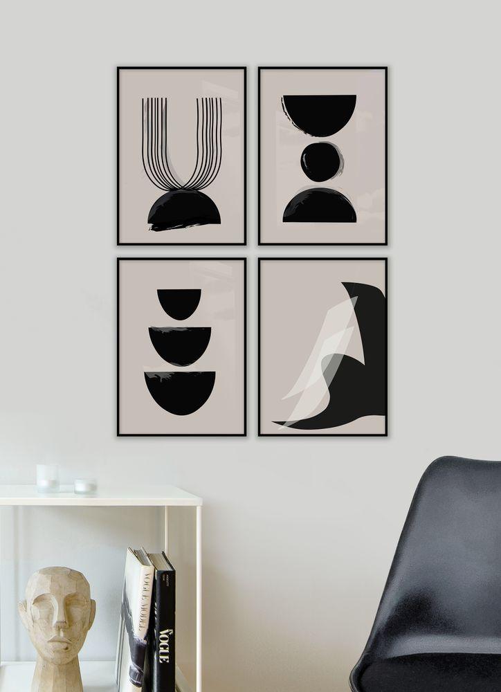 Abstrakt Halvcirkel Poster