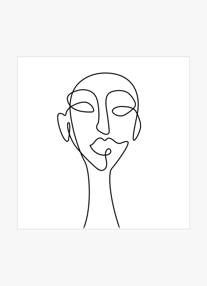 Abstrakt huvud