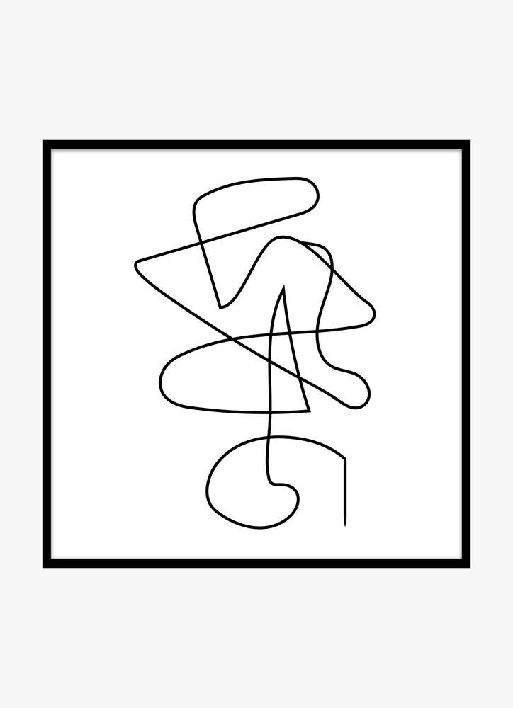 Abstrakt linjer nr1
