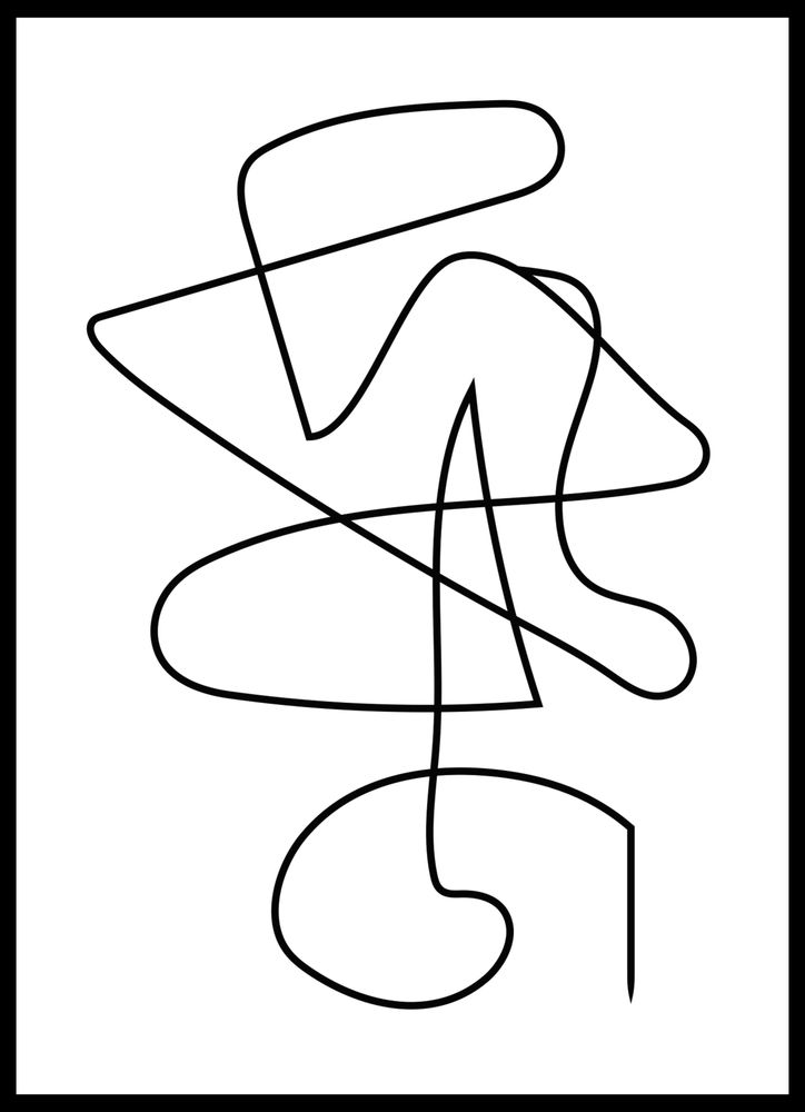 Abstrakt linjer nr1 poster