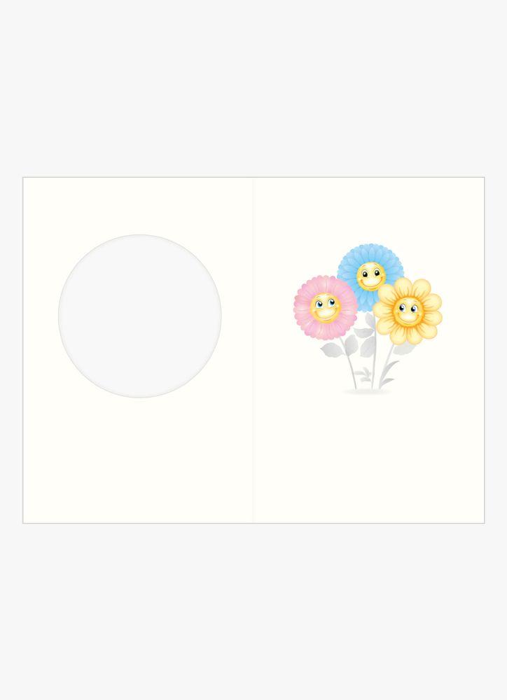 Förtjusande blommor kort