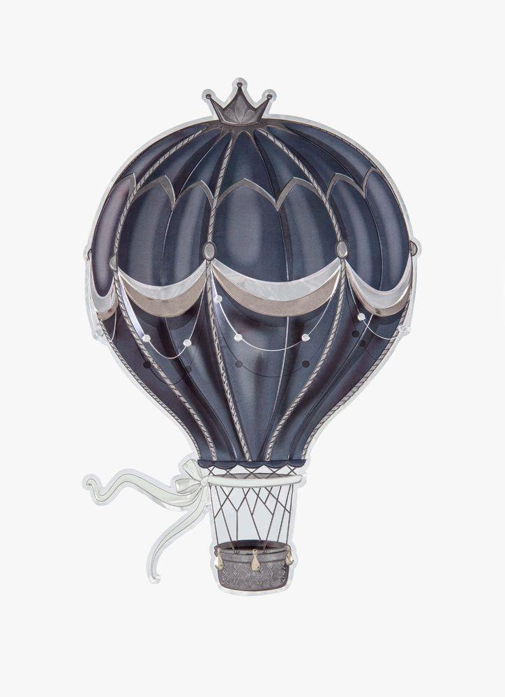 Grå luftballong väggdekor
