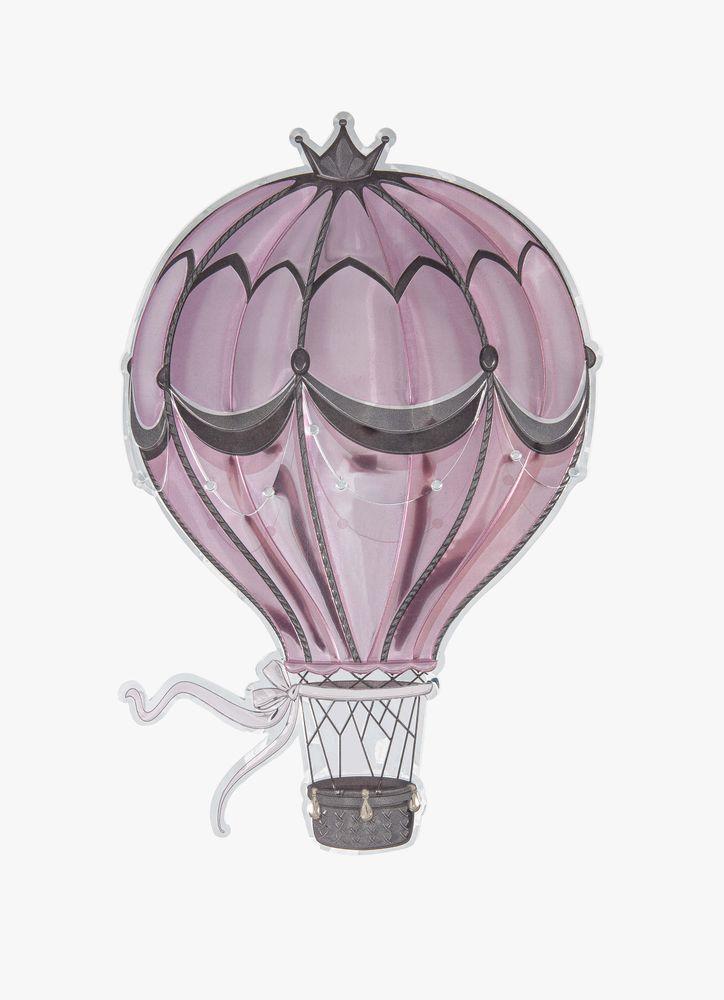 Rosa luftballong väggdekor