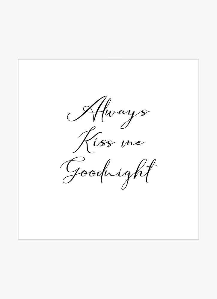 Always kiss me text poster