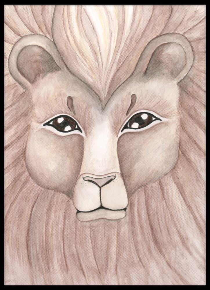 Lejon i akvarell