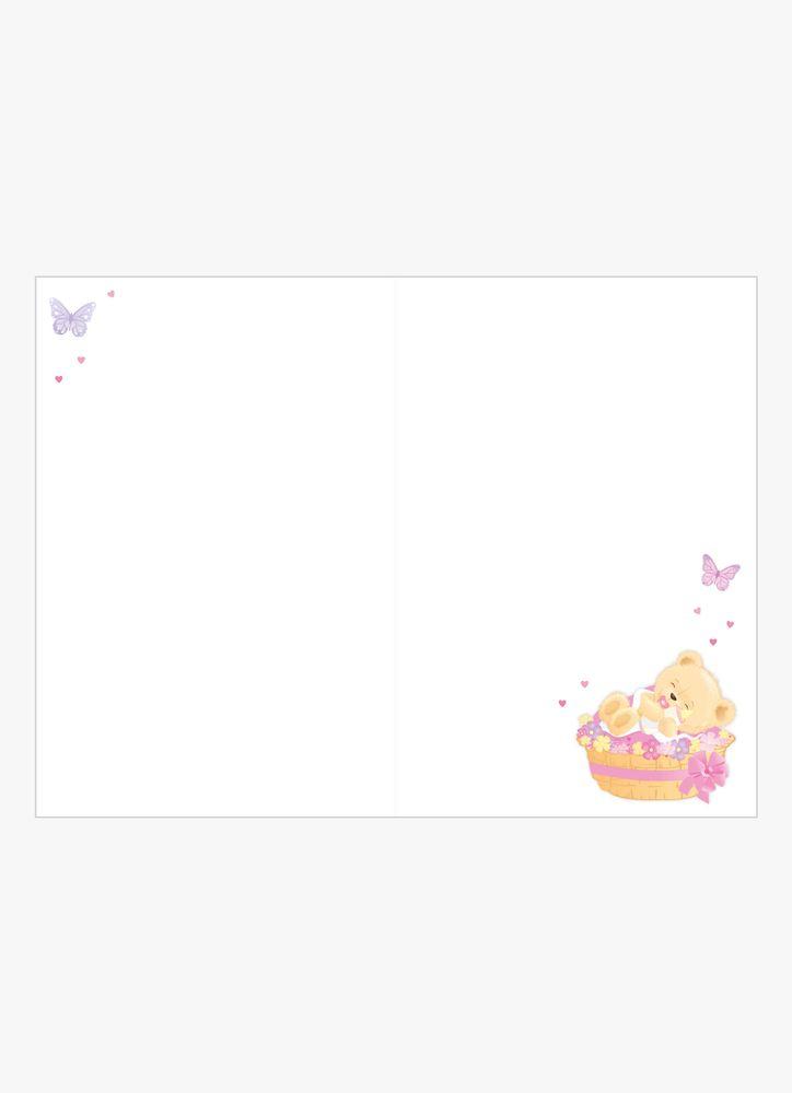 Björnunge rosa gratulationskort