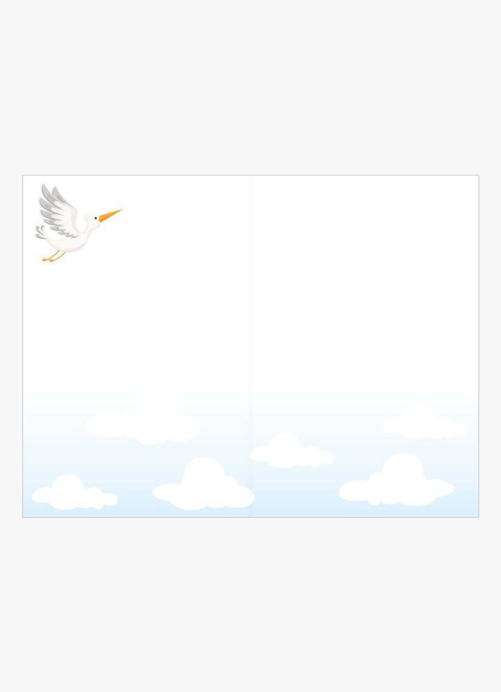 Baby Shower flerfärg kort