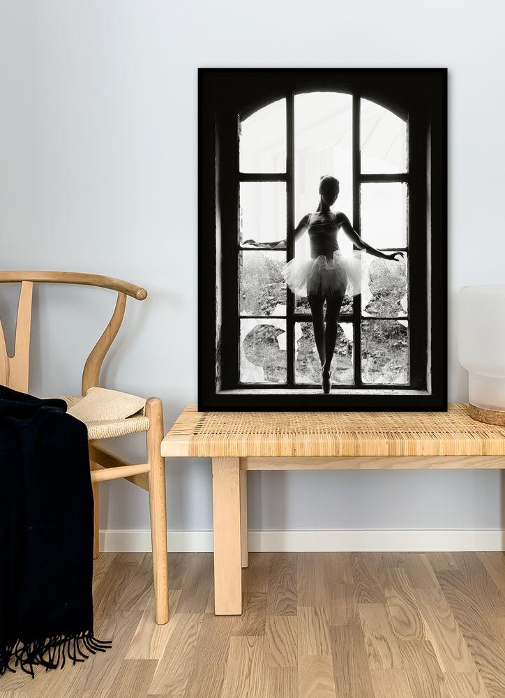 Ballerina i fönster poster