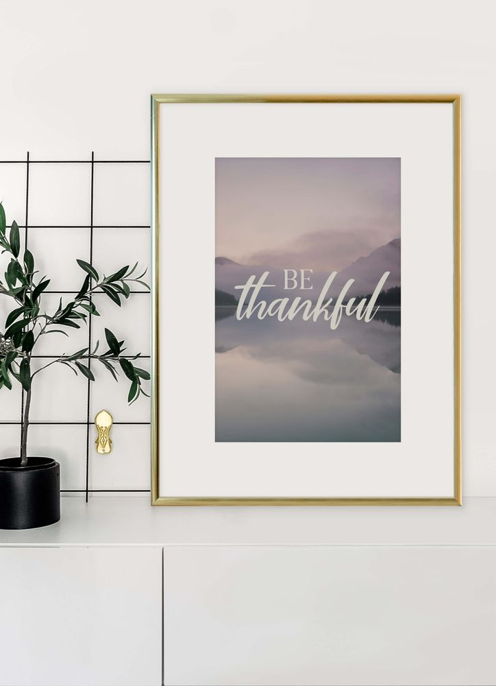 Be Thankful Text Poster