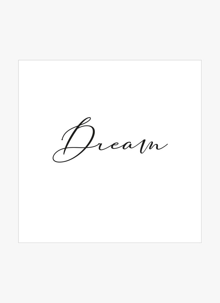 Beautiful dream text poster