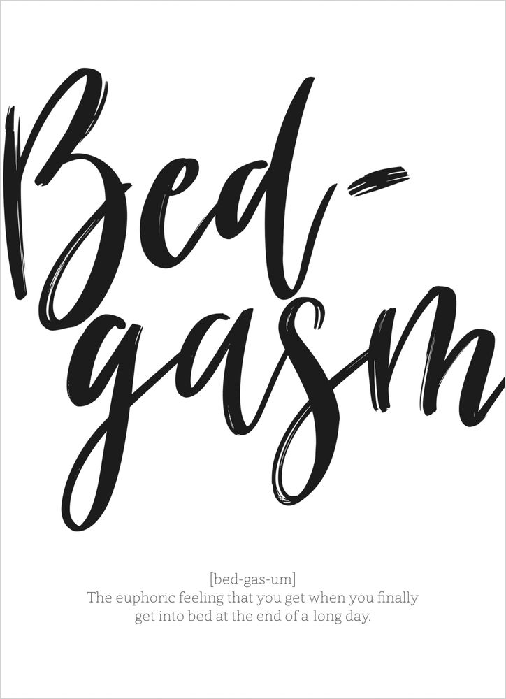 Bedgasm text poster