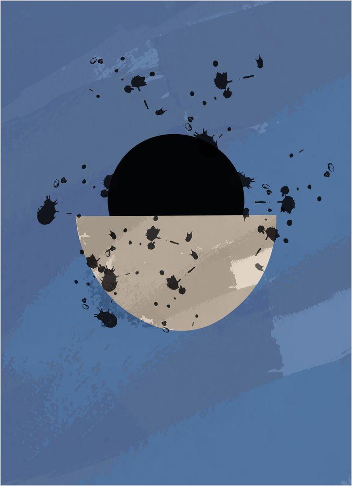 Halvcirkel Abstrakt Poster