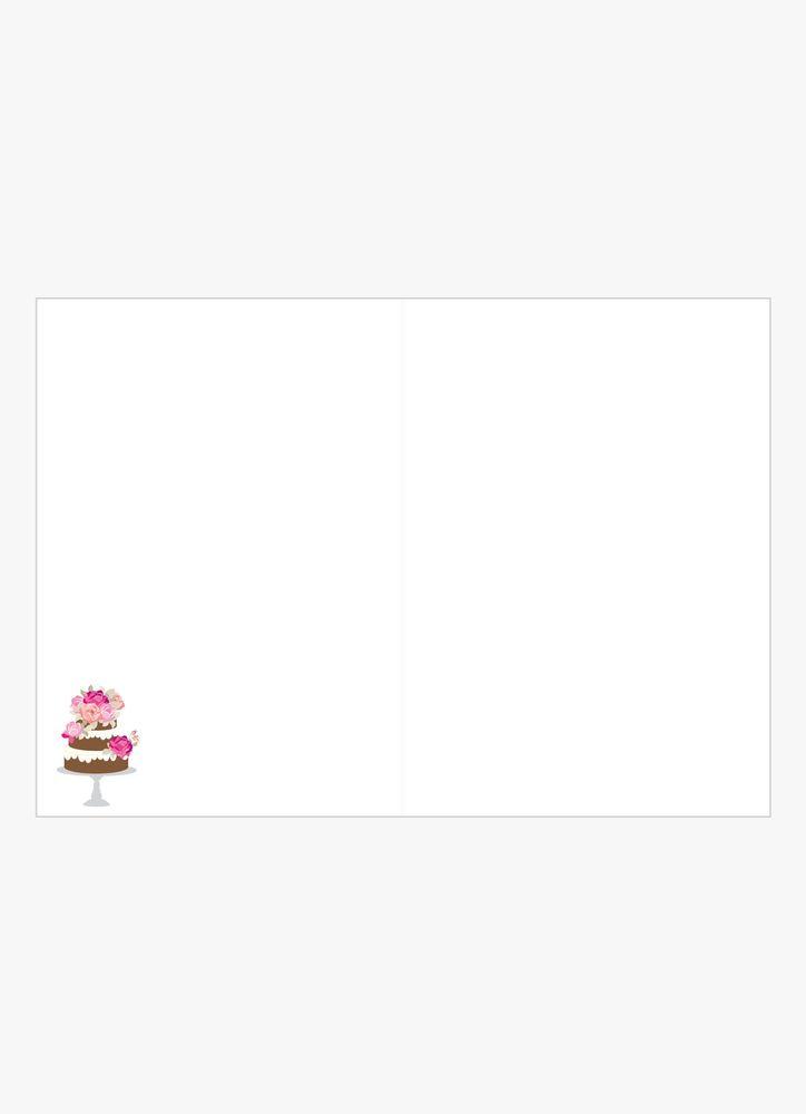 Klassisk Tårta Gratulationskort