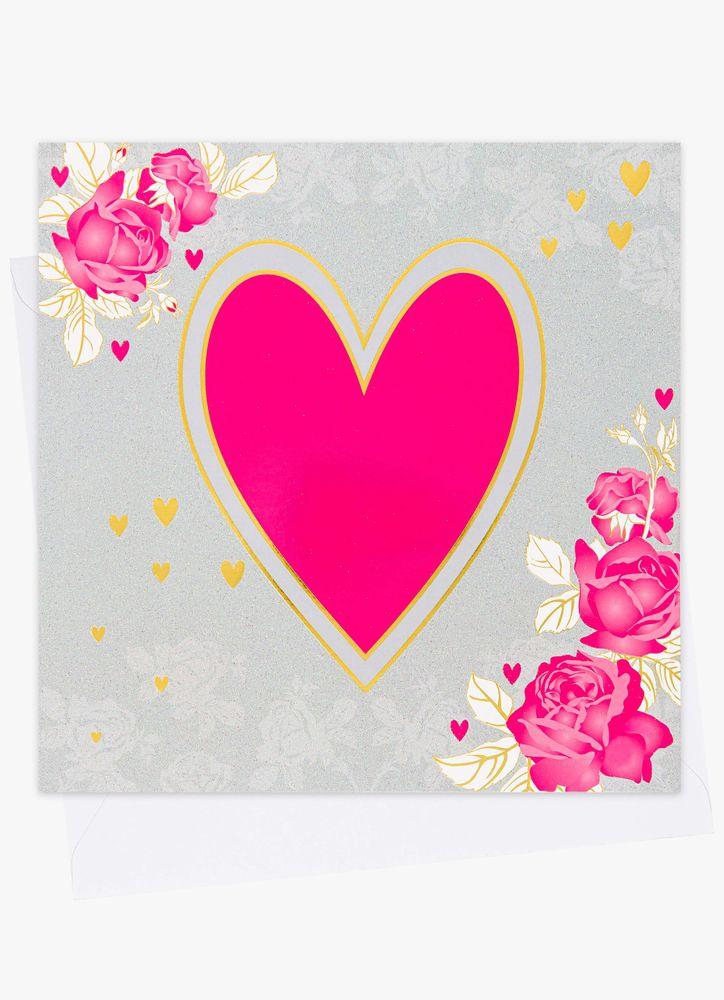 Stort gratulationskort hjärta