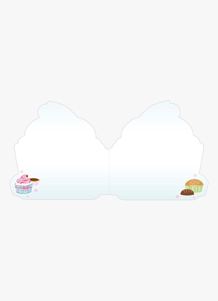 Stort gratulationskort cupcake