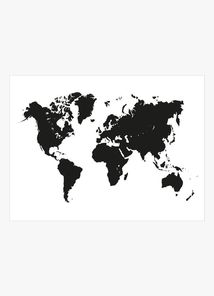 Svart karta poster