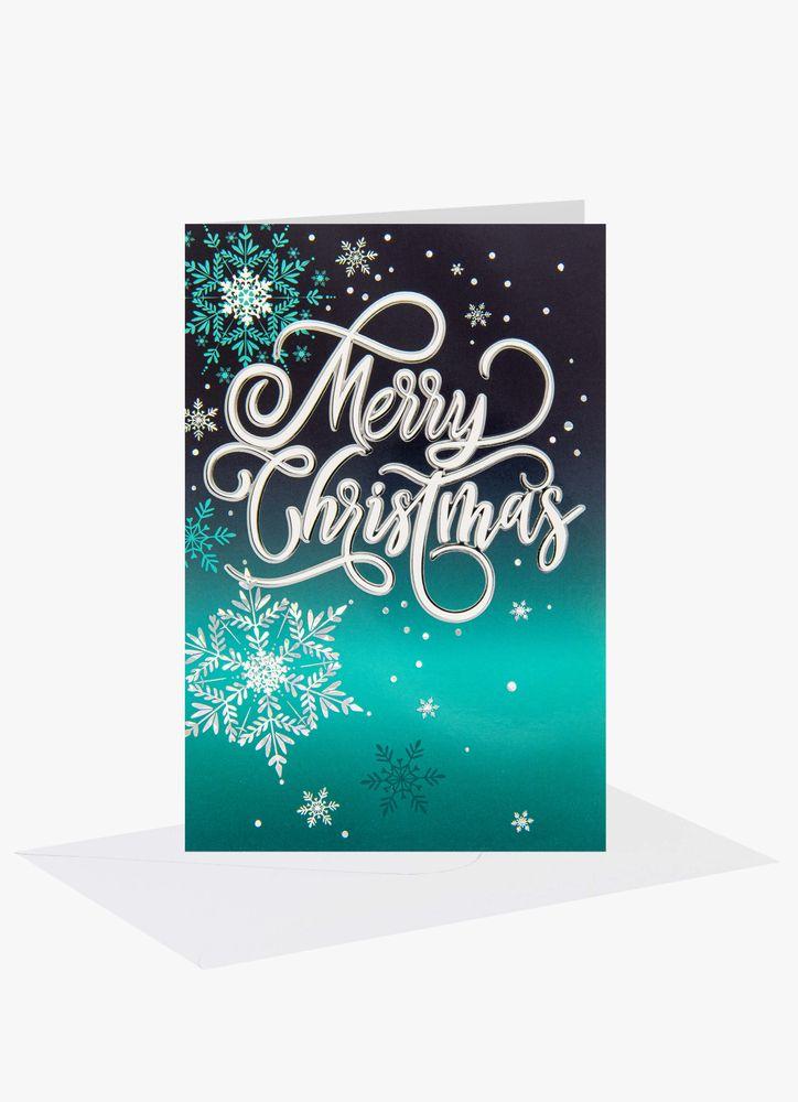 Merry Christmas grafiskt julkort