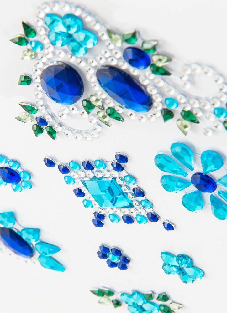 Blå blommor kristaller
