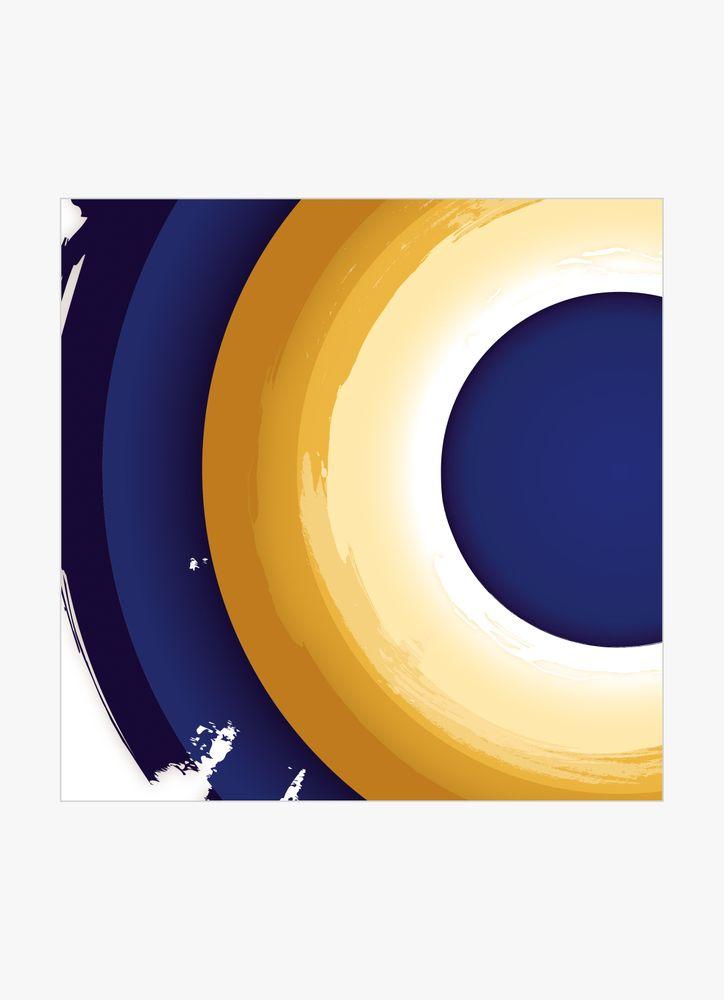 Mönster blå & orange nr2 poster