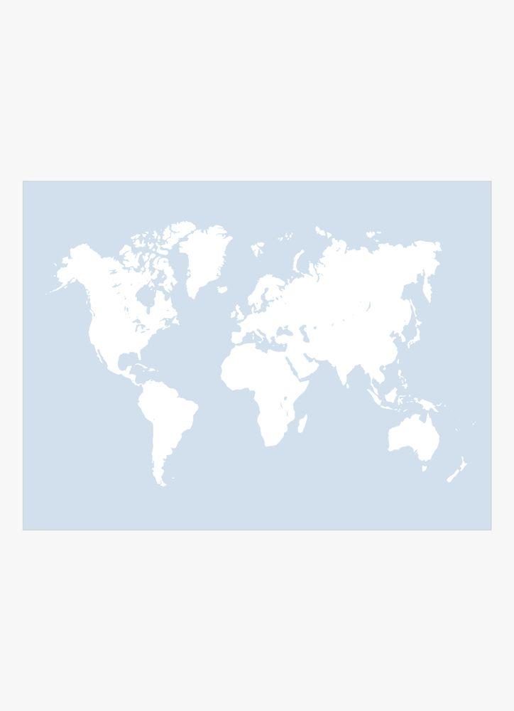 Blå karta poster
