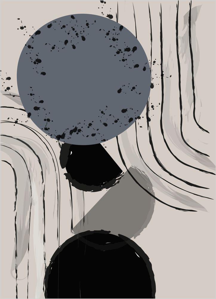 Abstrakt Planeter Poster