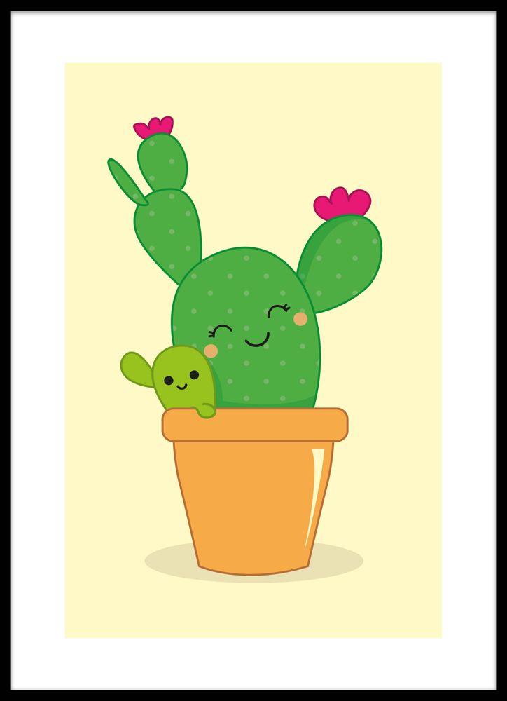 Glad kaktus poster
