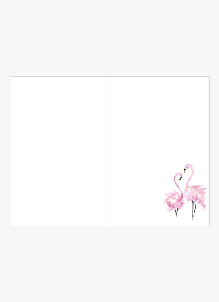 Eleganta flamingos kort