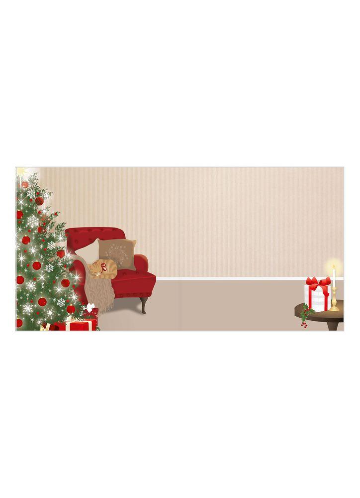 Mysigt vardagsrum julkort