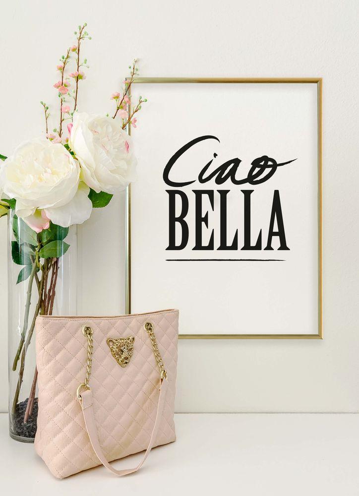 Ciao Bella black text poster
