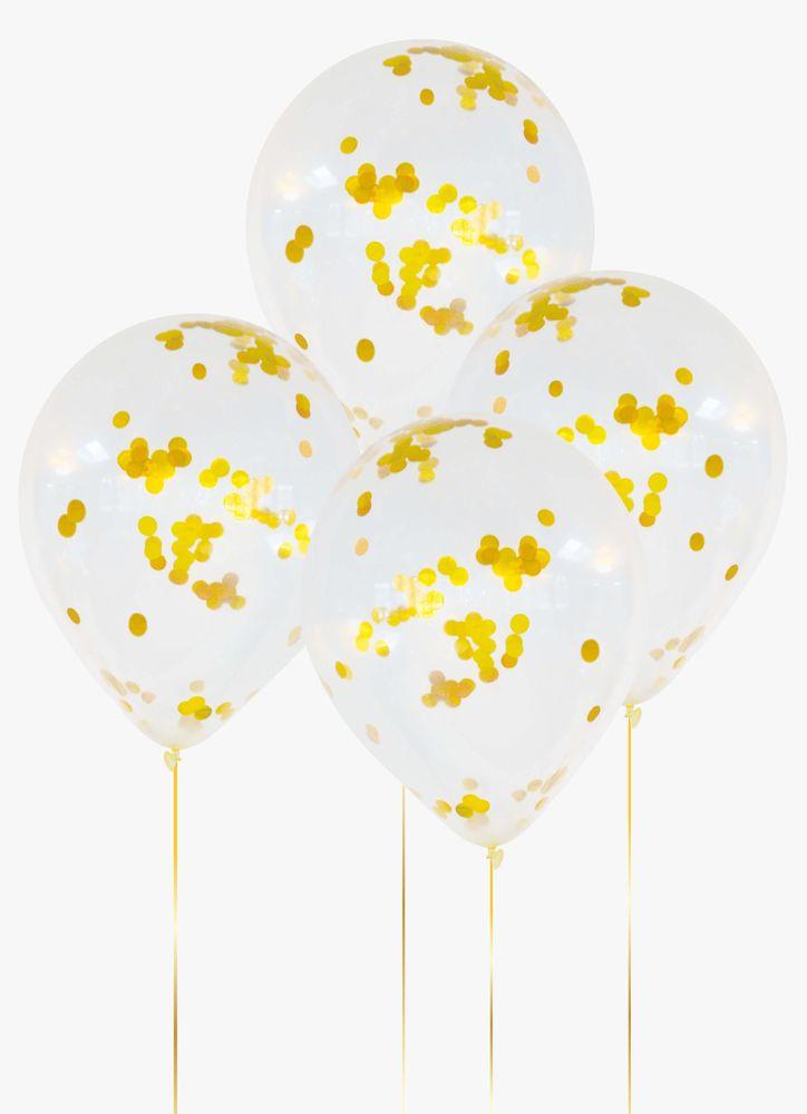 Ballonger konfetti guld