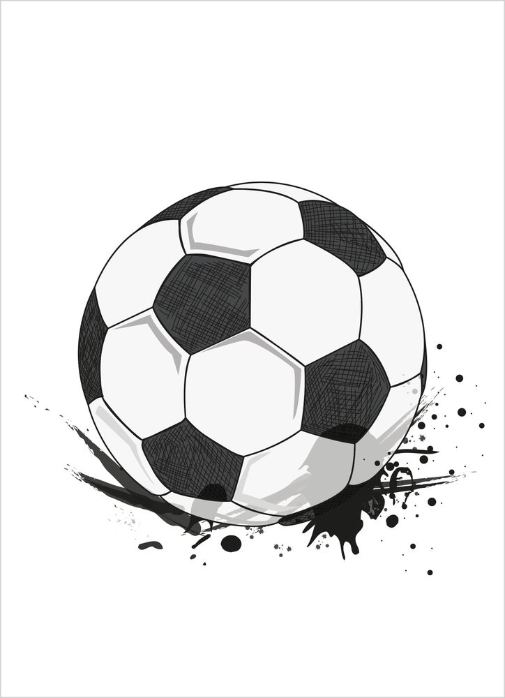 Cool fotboll poster