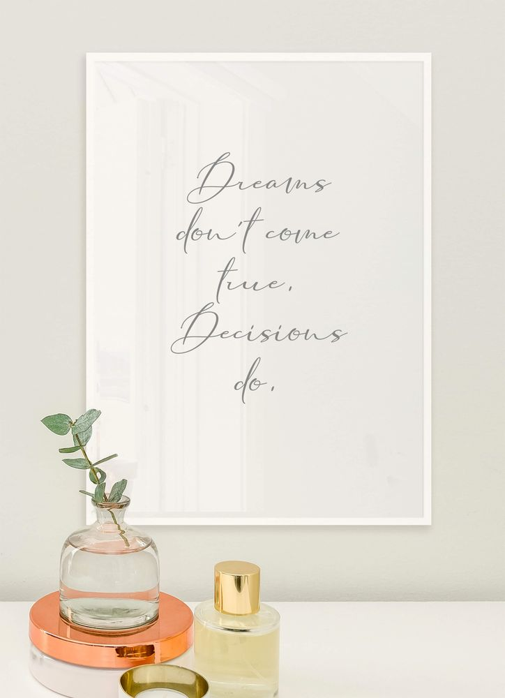 Decisions do text poster