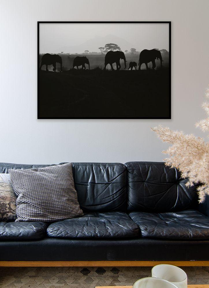 Elefant siluett poster