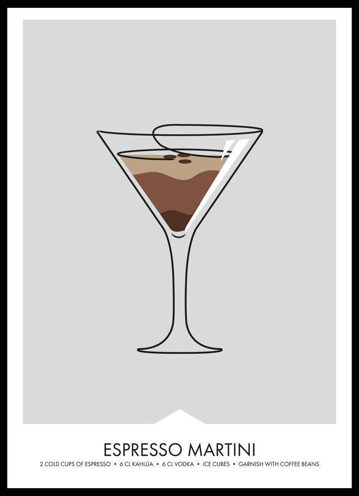 Espresso martini drink poster