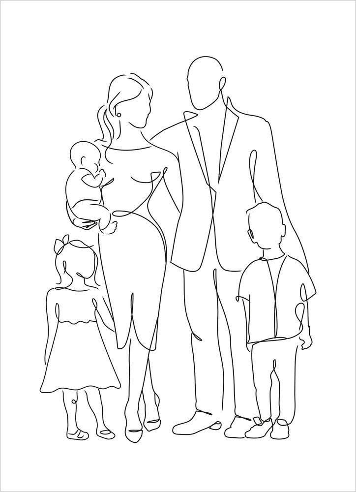 Fem i familjen skiss poster