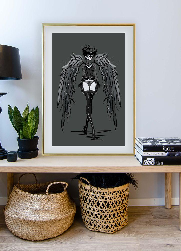Kvinna med vingar poster