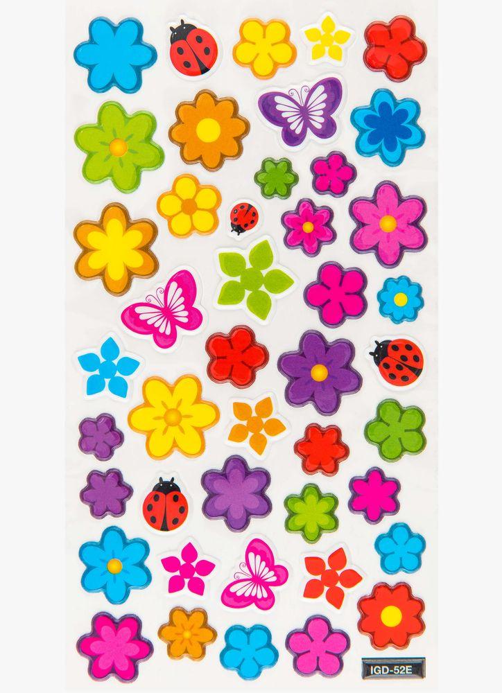 Färglada blommor klistermärken