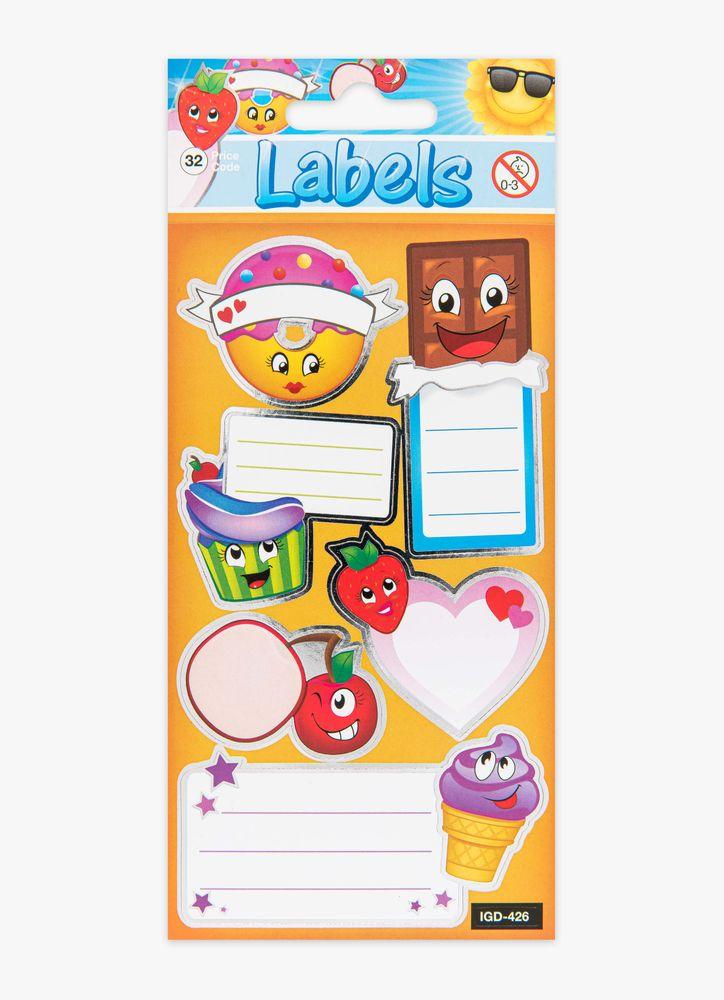 Klistermärken etiketter mat