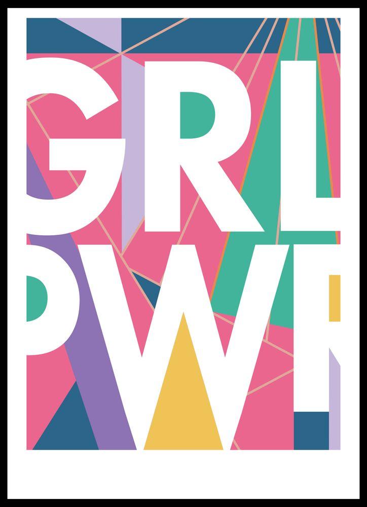 GRLPWR text poster