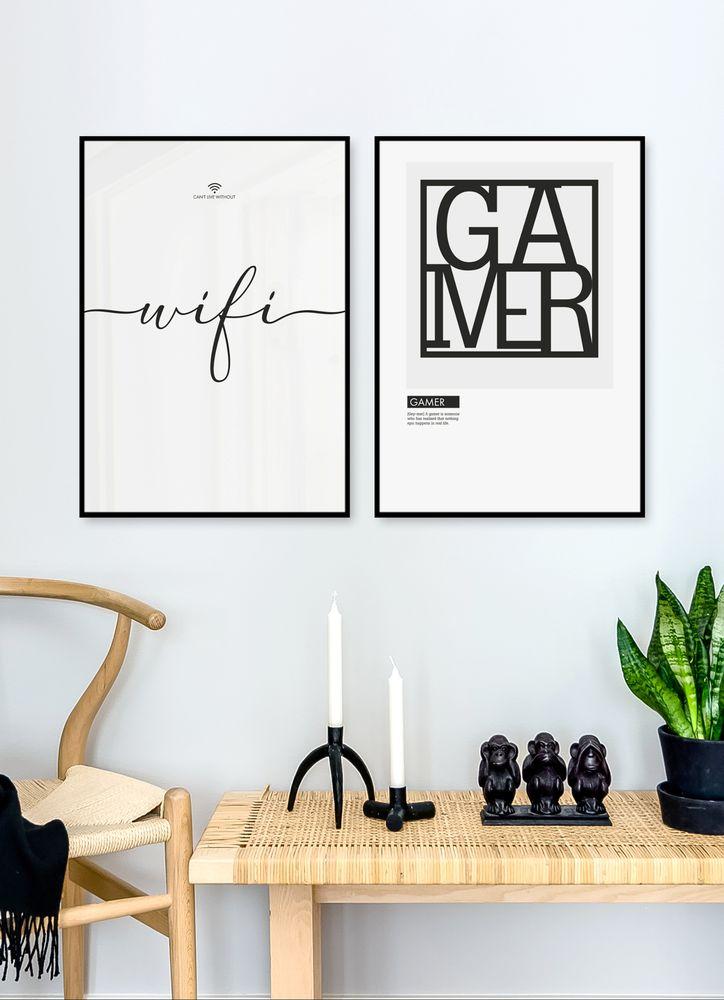 Gamer Text Poster
