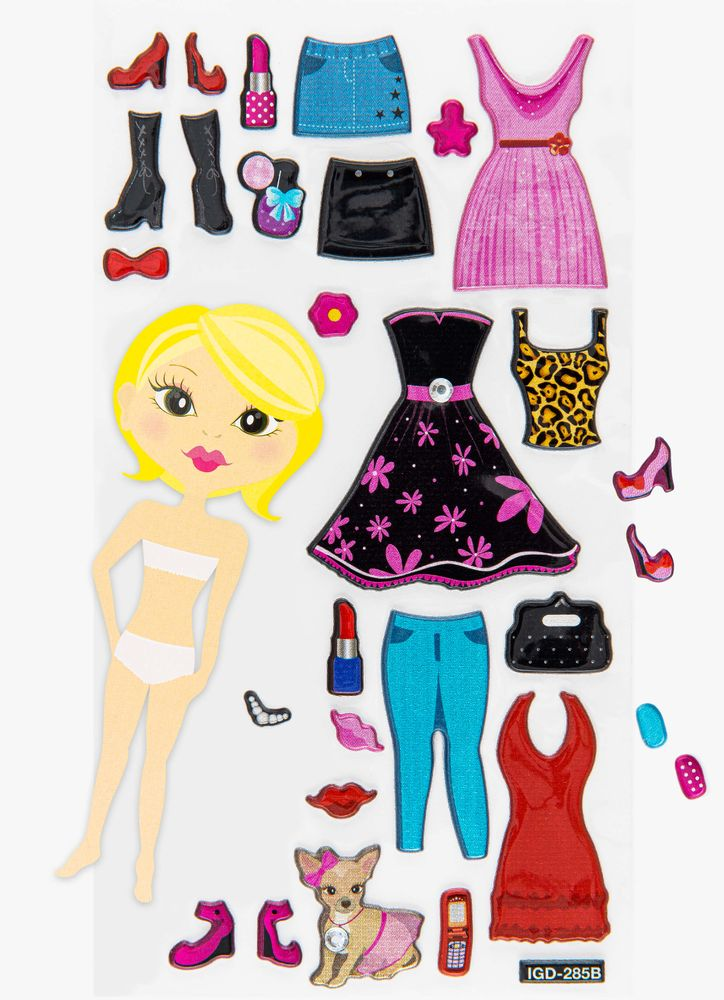 Klistermärken klänningar