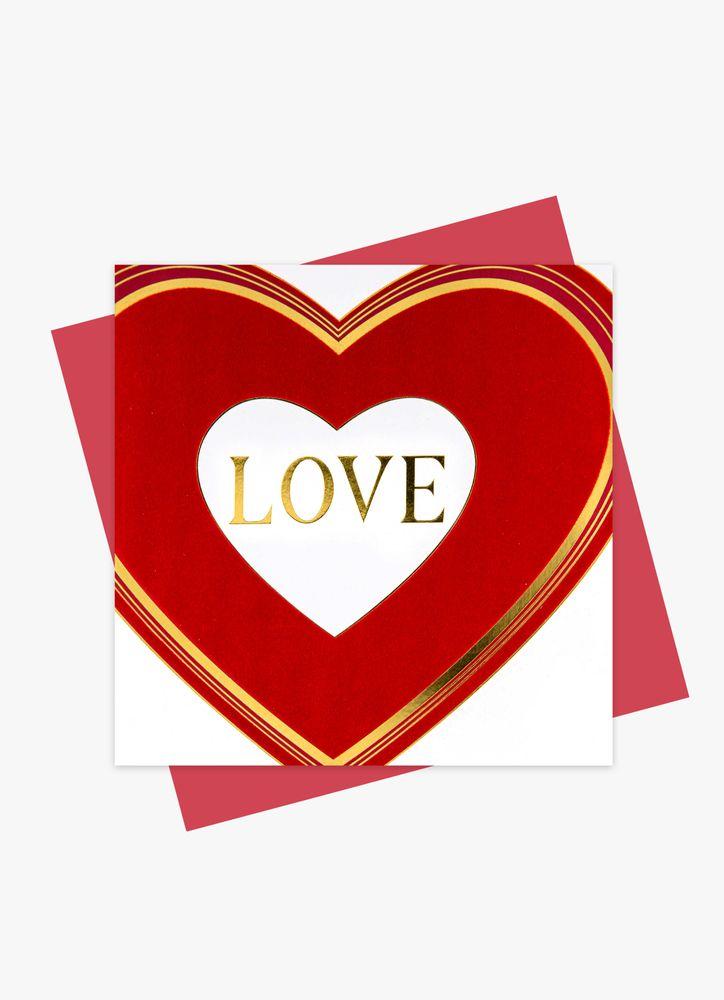 Hjärta med guldtext