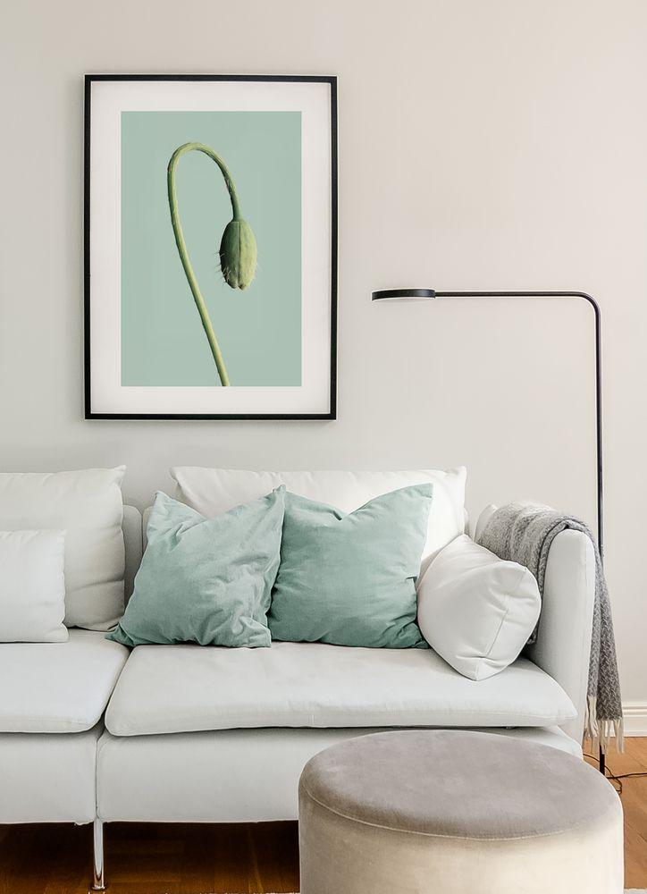 Grön blomknopp poster